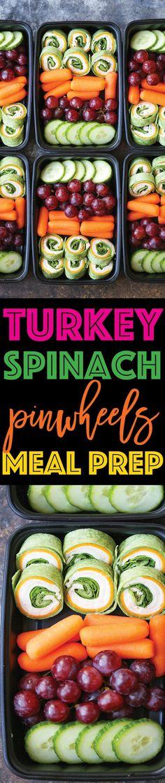 Turkey Spinach Pinwheels Meal Prep