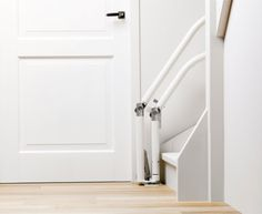 Stair Lifts: Otolift Stairlifts - Innovative hinged rail stairlift for curved stairs. Available in the UK from Dolphin Stairlifts.
