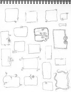 Great doodle frames. . . .