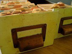 Old recipe box