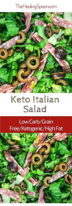 #keto #saladrecipes Italian sub salad