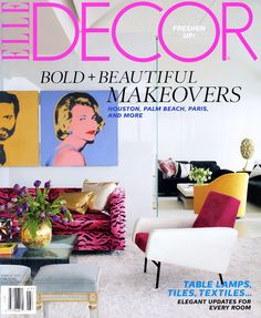 """""""DEALER'S CHOICE"""" Exquisite Surfaces' Gustav Gray featured in Elle Decor's """"Dealer's Choice,"""" by antiques dealer, Lee Stanton for his L.A. apartment."""