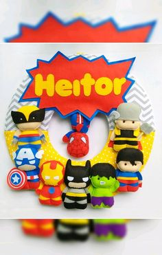 Mima, Bowser, Avengers, Logos, Fictional Characters, Door Hangings, Superhero, Feltro, Craft