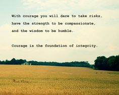 Courage Quote, Mark Twain, Golden Field Landscape Photography Print, 8x10. $25.00, via Etsy.
