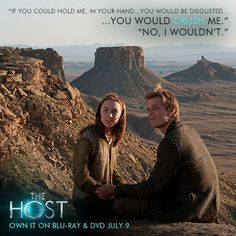 """You would crush me."" ""No, I wouldn't."" Repin if you LOVED Ian in The Host (MOVIE)!"