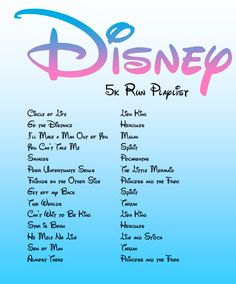 Adventures of a (sorta) Stay-at-Home Mom: Disney Workout Mix! Fitness Workouts, Tv Show Workouts, Fun Workouts, At Home Workouts, Disney 5k, Disney Marathon, Disney Songs, Disney Princess Marathon, Disney Running