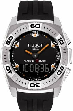 Tissot Men's T002.520.17.051.02 Black Dial Racing Touch Watch Tissot. $500.00. Antireflective sapphire. Water resistant to 100 m (330 feet). Sport watch, stainless steel case. Case diameter: 43 mm. Quartz. Save 20% Off!