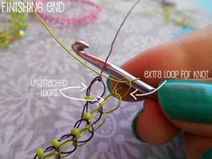 Wire Crochet Bracelet: Brianna.   Full tute.  #Wire #Jewelry #Tutorials