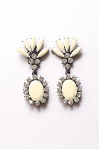 Boucles d'oreilles ananas beiges