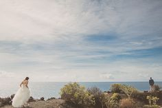 mine and Matt's first look in La Palma  Photography by Ed Peers