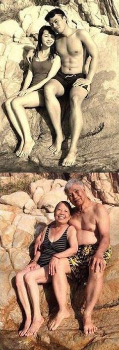 These Before and After Couple Photos Prove Love Is Forever (With images)
