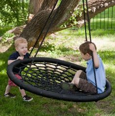 Way to cool. And this wont collect water like a real tire swing and its more comfortable!!