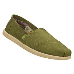 Skechers Bobs World - Spectrum Shoes (Olive)