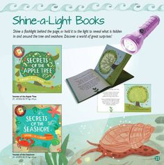 Such a cool concept! Flashlight books - the image on one page appears when you shine the light behind it!   http://j5313.myubam.com/