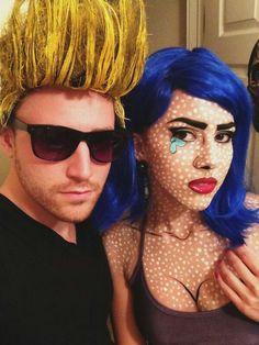 pretty simple halloween costumes johnny bravo lichtenstein pop art girl love this - Art Costumes Halloween