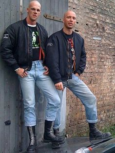 My mum says Nick and Pete are bad influences. I like the left one to be Nick🤤 Skinhead Men, Skinhead Boots, Skinhead Fashion, Botas Dr Martens, Dr. Martens, Mod Fashion, Fashion Moda, Skin Head, Mod Girl
