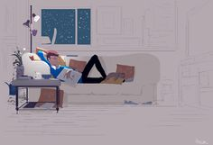 Couch potatoeing #pascalcampion #winterishere Last one for the night.... Notice Charly {the dog) on the pillow? That's how he really sleeps.