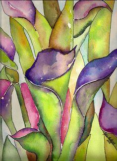 Purple Calla Lilies by jjlcooterpie, via Flickr