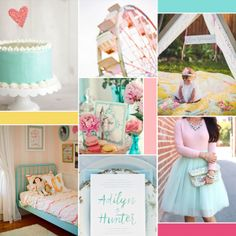 Happy and whimsical moodboard (see post for image sources)    katelynbrooke.com