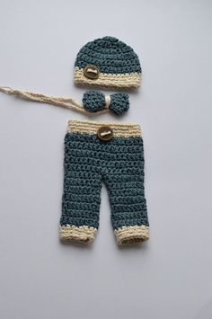 Crochet baby boy outfit crochet photo prop by BabycakesDesigns4u, $43.00