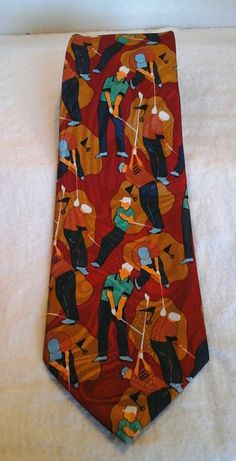 Classic Golf Novelty Tie by LouisandRileys on Etsy