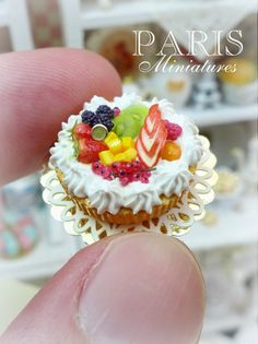 Mixed Fruit and Chantilly Cream Tart - 12th scale handmade miniature food | Flickr - Photo Sharing!