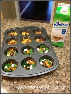 Egg White Muffins | Take 10 With Tricia - Works great and they taste yummy
