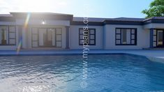 4 Bedroom House Plan – My Building Plans South Africa 4 Bedroom House Plans, Family House Plans, My Building, Building Plans, Free House Plans, Contemporary House Plans, Tuscan House, Fancy Houses, Open Plan