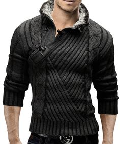 Merish Strickpullover Pullover Fellkragen Strickjacke Hoodie Slim Fit Herren 548 Anthrazit S Original article and pictures take https. Cool Outfits, Casual Outfits, Fashion Outfits, Stylish Men, Men Casual, Mens Suits, What To Wear, Winter Fashion, Men Sweater