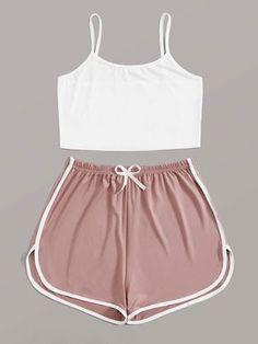 Really Cute Outfits, Cute Lazy Outfits, Crop Top Outfits, Sporty Outfits, Pretty Outfits, Girly Outfits, Cool Outfits, Girls Fashion Clothes, Teen Fashion Outfits