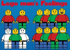 Lego man's feelings by PrwtoKoudouni Lego Man, Pink Minnie, Face Expressions, Png Format, Clip Art, Teaching, Black And White, Feelings, Commercial