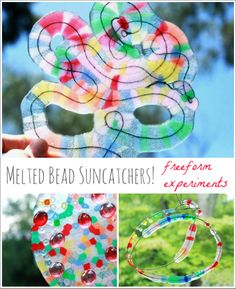 More Melted Bead Suncatchers! Freeform experiments.. Can't wait to try this when the weather warms up a bit!