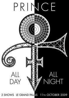 Prince all day ~ all night poster. 2009