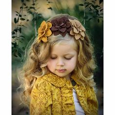 felt flower headbands Josephine Three Felt Flowers On Hard Headband - Felt Headband, Baby Headbands, Felt Flower Headbands, Little Girl Headbands, Headband Hairstyles, Diy Hairstyles, Felt Flowers, Fabric Flowers, Felt Hair Accessories