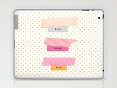 Live Laugh Love  Laptop & iPad Skin by mel @ my postcard heaven - $25.00