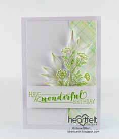 Pistachio Color, Birthday Sentiments, Bamboo Leaves, Heartfelt Creations, Special Birthday, Daffodils, Flower Patterns, Card Stock, Scrapbooking