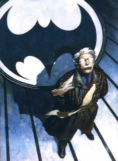 Scott Hampton pin-up of Commissioner Gordon from Batman: Masterpieces