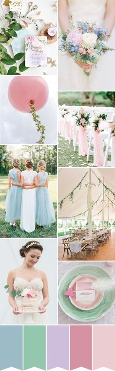 Whimsical Pastel Wedding Inspiration // www.onefabday.com
