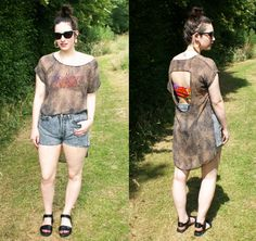A great summer look from Katie over at http://www.thequickredfox.co.uk  Get your vintage cut offs here http://www.bragvintage.co.uk  #bragvintage #denimshorts #cutoffs #levis