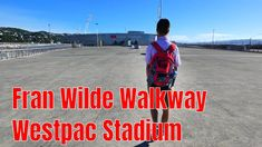 Fran Wilde Walkway, Westpac Stadium, Wellington city In the early morning, we walked along Fran Wilde Walkway to the Westpac Stadium. The walkway is lon. Wellington City, Walkway, New Zealand, Sidewalk, Runway, Walkways, Street