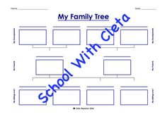 My Family Tree - Three & Four Generations With Up To Four Kids Great Grandparents, Four Kids, Social Science, My Family, Homeschooling, Worksheets, Sisters, Floor Plans, Children