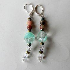 1. Nieuw: Muranoglas met natuursteen en kristal