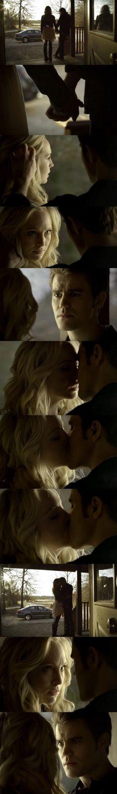 The Vampire Diaries TVD 6x14 - Steroline first kiss ♥♥♥