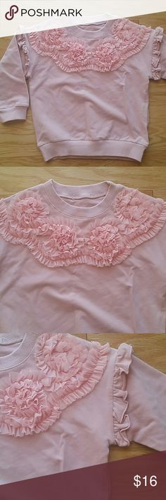 NWOT Pink beautiful Top Adorable pink top with delicate flowers. Very pretty.  This item is brand new and never used Shirts & Tops Tees - Long Sleeve