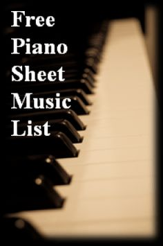 Free Piano Sheet Music List