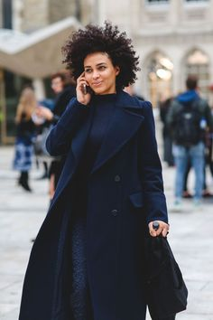 London Street Style That Just Oozes Cool #refinery29 http://www.refinery29.com/2016/02/103453/london-fashion-week-fall-winter-2016-street-style-pictures#slide-66 All-blue everything....