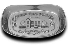 Wilton Armetale Bless This House Bread Serving Tray, Rectangular