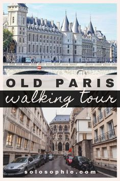 Free and self-guided Old Paris walking tour. Here's an itinerary for an easy guide to the and arrondissements of Paris, France Paris Travel Guide, Europe Travel Tips, European Travel, Places To Travel, Places To Visit, Travel Destinations, Paris Map, Old Paris, Paris France