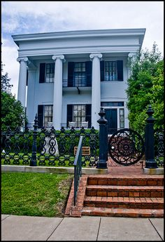 The Cannonball House  - Built in 1853 by Judge Asa Holt, this beautiful antebellum house is considered an outstanding example of Greek Revival architecture of the Old South. It became known as the Cannonball House after it was struck by a cannon ball fired by Union cavalry forces under Gen. George Stoneman during the Battle of Dunlap Hill on July 30, 1864.