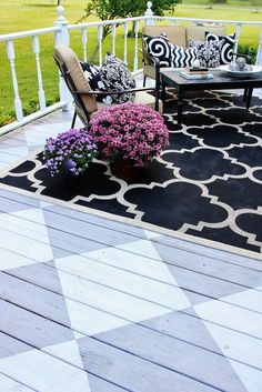 DIY painted porch ideas